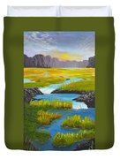 Marsh River Original Painting Duvet Cover
