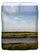 Marsh Scene Charleston Sc Duvet Cover