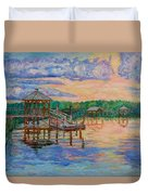 Marsh View At Pawleys Island Duvet Cover