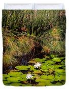 Marsh Waterlilies  Duvet Cover