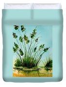 Marsh Weeds Duvet Cover
