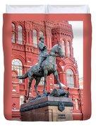 Marshal Georgy Konstantinovich Zhukov Statue Duvet Cover