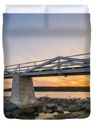 Marshall Point Light Sunset Duvet Cover
