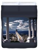Marshall Point Lighthouse Maine Duvet Cover by Skip Willits