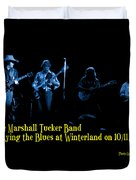 Marshall Tucker Winterland 1975 #18 Enhanced In Blue With Text Duvet Cover