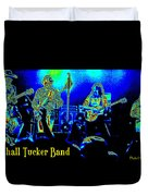 Marshall Tucker Winterland 1975 #18 In Special Cosmicolors With Text Duvet Cover