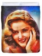 Martha Vickers, Vintage Hollywood Actress Duvet Cover