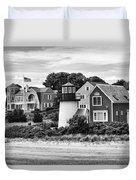 Hyannis Lighthouse Bw Duvet Cover
