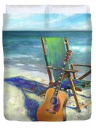Martin Goes To The Beach Duvet Cover