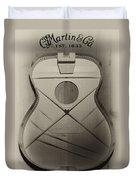 Martin Guitar - No Guts No Glory In Sepia Duvet Cover
