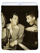Martin, Lewis, And Clooney Duvet Cover