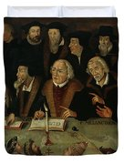 Martin Luther In The Circle Of Reformers Duvet Cover