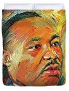 Martin Luther King Portrait 1 Duvet Cover