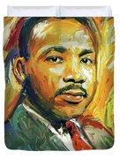 Martin Luther King Portrait 2 Duvet Cover