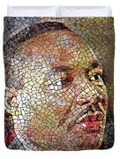 Martin Luther King Portrait Mosaic 1 Duvet Cover
