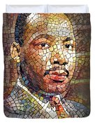 Martin Luther King Portrait Mosaic 2 Duvet Cover