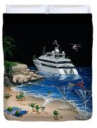 Martini Cove La Jolla Duvet Cover