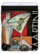 Martini Poster Duvet Cover