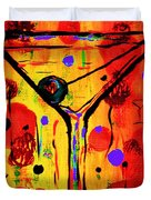 Martini Twentyfive Of Sidzart Pop Art Collection Duvet Cover