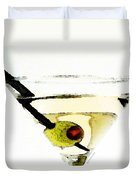 Martini With Green Olive Duvet Cover
