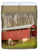 Martinsville Covered Bridge Duvet Cover