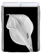 Marvelous Calla Lily In Black And White Duvet Cover
