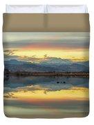 Marvelous Mccall Lake Reflections Duvet Cover