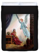 Mary And Angel Duvet Cover