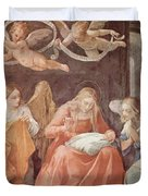 Mary And Angels 1611 Duvet Cover