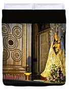 Mary And Baby Jesus In Palermo Duvet Cover
