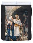 Mary And Jesus Duvet Cover