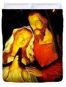 Mary And Joseph Duvet Cover