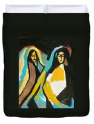 Mary And Josephine Duvet Cover