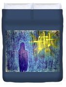 Mary And The Crosses Duvet Cover
