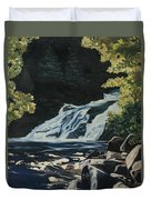 Mary Ann Falls On The Cabot Trail Duvet Cover