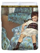Mary Cassatt-little Girl In A Blue Armchair1878 Po Amp 059 Mary Cassatt Duvet Cover