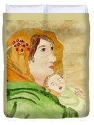 Mary Did You Know Duvet Cover