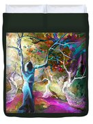 Mary Magdalene And Her Disciples Duvet Cover