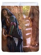 Mary Magdalene At The Sepulchre Duvet Cover