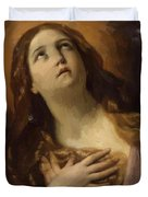 Mary Magdalene In Ecstasy At The Foot Of The Cross 1629 Duvet Cover