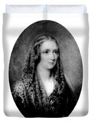 Mary Shelley, English Author Duvet Cover