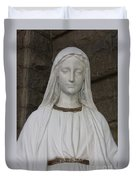 Mary Statue At Sacred Heart In Tampa Duvet Cover