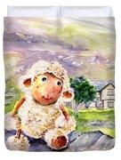 Mary The Scottish Sheep Duvet Cover