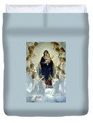 Mary With Angels Duvet Cover