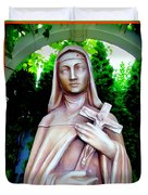 Mary With Cross Duvet Cover