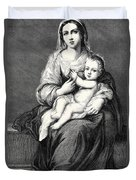 Mary With The Child Jesus Duvet Cover