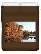 Maryland Autumns - Clopper Lake - Kingfisher Overlook Duvet Cover