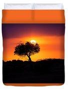 Masai Mara Sunrise Duvet Cover