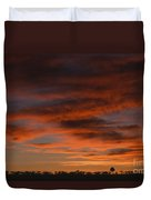 Masai Mara Sunset Duvet Cover