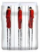 Masai Warrior Triptych - Original Artwork Duvet Cover